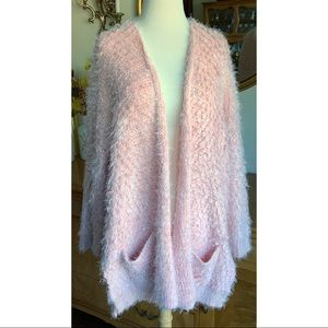 Forever 21 Metallic Sparkle Pink Sweater
